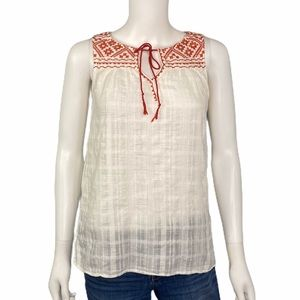 Max Studio White and Red Patriotic Top SZ S